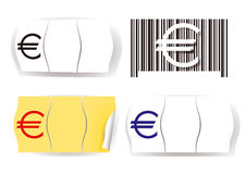 Euro price tag Stock Photography