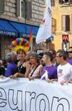 Euro Pride Parade di Roma Fotografia Stock