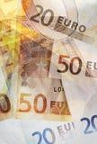 Euro priorità bassa Immagine Stock