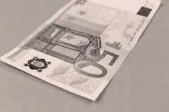 Euro priorità bassa dei soldi Fotografie Stock