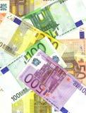 Euro priorità bassa delle banconote Fotografia Stock