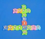 Euro: probleem munt? Stock Afbeelding