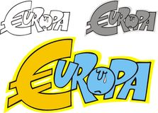 Euro problem Royalty Free Stock Photos