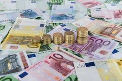 Euro prognosi in aumento Fotografia Stock Libera da Diritti