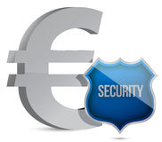 Euro protected concept illustration design. Over white Stock Image