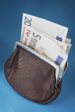 Euro purse Royalty Free Stock Photo