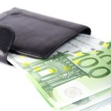 Euro and a purse Stock Images