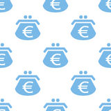 Euro purse seamless pattern Royalty Free Stock Image
