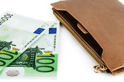 Euro and purse Royalty Free Stock Photo