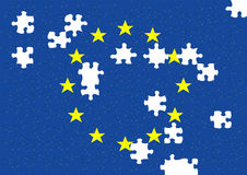 Euro puzzle. Computer generated European community Stock Images