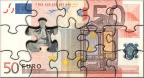 Euro puzzle Photographie stock libre de droits