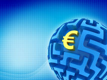 Euro puzzle Royalty Free Stock Photo