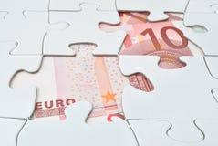 Euro puzzle Fotografie Stock