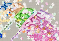 Euro puzzle Stock Photo