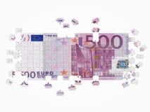 Euro puzzle. Isolated on white background royalty free illustration