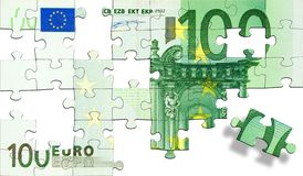 Euro puzzle Images stock