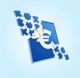 Euro puzzle Fotografia Stock Libera da Diritti