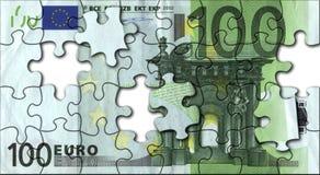 Euro puzzle Fotografie Stock Libere da Diritti