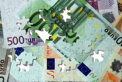Euro puzzle de billets de banque photo libre de droits