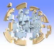 Euro puzzle della moneta Fotografia Stock