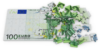 Euro puzzle Stock Photography