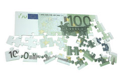 100 euro puzzle 2. 100 euro puzzle isolated on white background Royalty Free Illustration