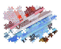 Euro puzzle Royalty Free Stock Images