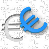 Euro Puzzle Showing Europe Finances Stock Photos