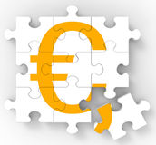 Euro Puzzle Shows European Currency Royalty Free Stock Images