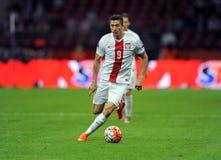 EURO 2016 qualificatori Polonia contro Gibilterra Immagini Stock Libere da Diritti