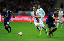 EURO 2016 Qualifiers Poland vs Gibraltar Royalty Free Stock Images