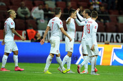 EURO 2016 Qualifiers Poland vs Gibraltar Stock Images