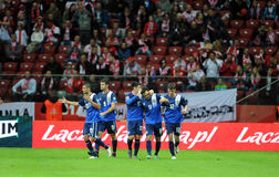 EURO 2016 Qualifiers Poland vs Gibraltar Stock Photos