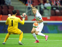 EURO 2016 Qualifiers Poland vs Gibraltar Royalty Free Stock Photo