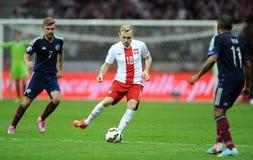 Euro 2016 qualifies Polnad-Scotland Stock Photography