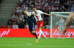 Euro 2016 qualifies Polnad-Scotland Stock Photography