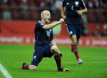 Euro 2016 qualifies Polnad-Scotland Royalty Free Stock Photos