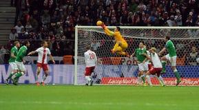 EURO Qualifikationsrunde 2016 Polen gegen Repräsentanten von Irland lizenzfreie stockbilder
