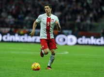 EURO Qualifikationsrunde 2016 Polen gegen Repräsentanten von Irland Stockbilder
