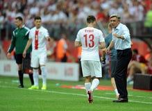 EURO 2016 qualifizieren Polen gegen Georgia Stockfoto