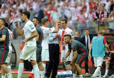 EURO 2016 qualify Poland vs Georgia Stock Images