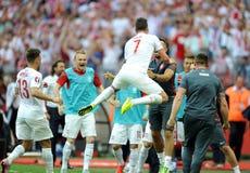 EURO 2016 qualify Poland vs Georgia Royalty Free Stock Photos