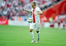 EURO 2016 qualify Poland vs Georgia Stock Photography