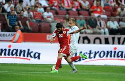 EURO 2016 qualify Poland vs Georgia Royalty Free Stock Photography