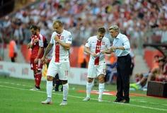 EURO 2016 qualify Poland vs Georgia Royalty Free Stock Images