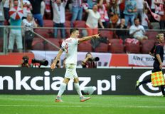 EURO 2016 qualify Poland vs Georgia Royalty Free Stock Photo
