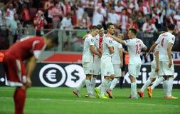 EURO 2016 qualify Poland vs Georgia Stock Image