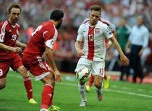 EURO 2016 qualify Poland vs Georgia Stock Photo