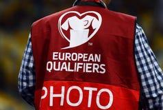 EURO 2016 Qualifying game Ukraine vs Slovakia Stock Photography