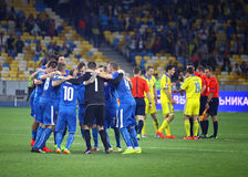 EURO 2016 Qualifying game Ukraine vs Slovakia Stock Photo